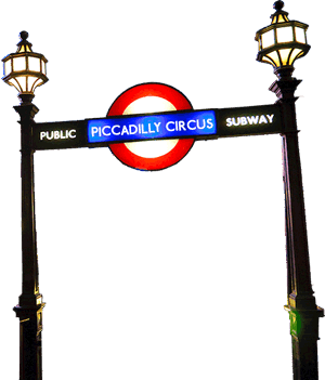 UK Piccadilly Underground pole