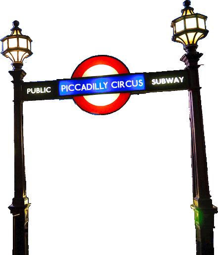 UK Piccadilly Underground pole