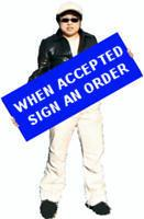 When accepted sign an order