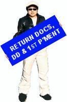 Return docs DD & 1st p'ment